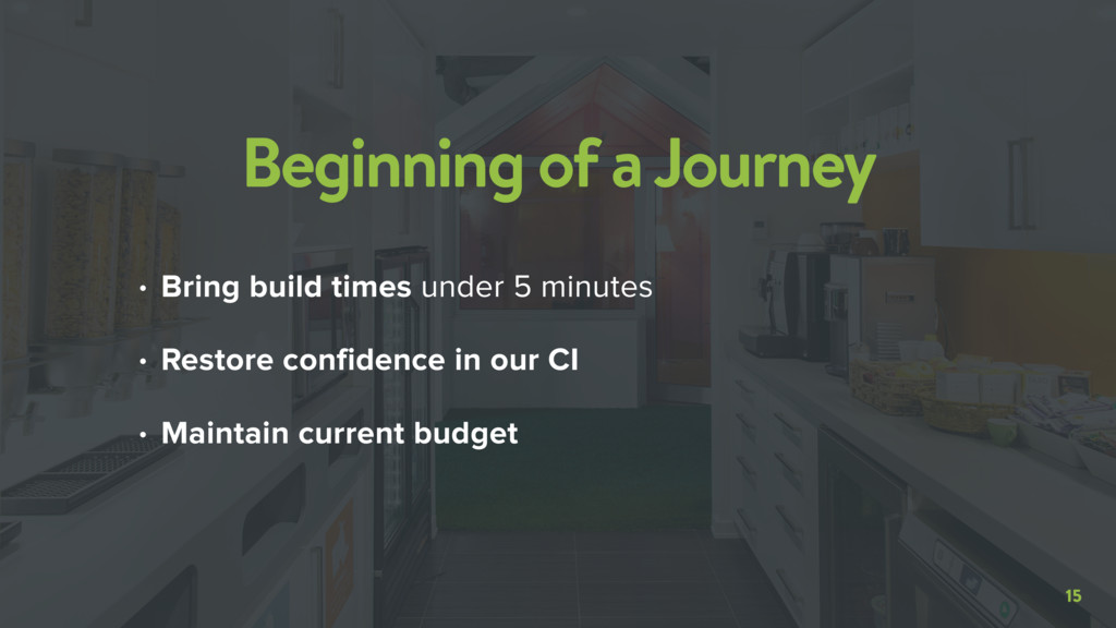 15 Beginning of a Journey • Bring build times u...