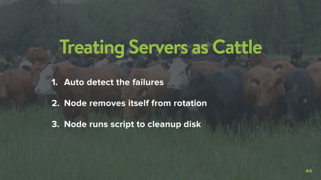 44 Treating Servers as Cattle 1. Auto detect th...