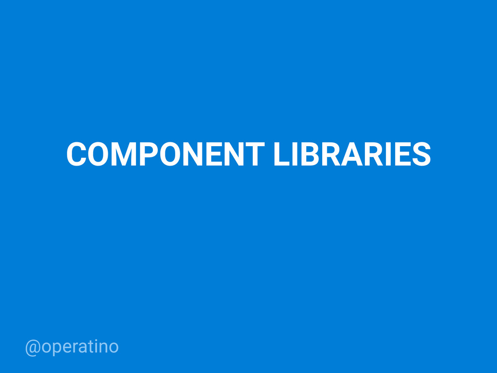 @operatino COMPONENT LIBRARIES