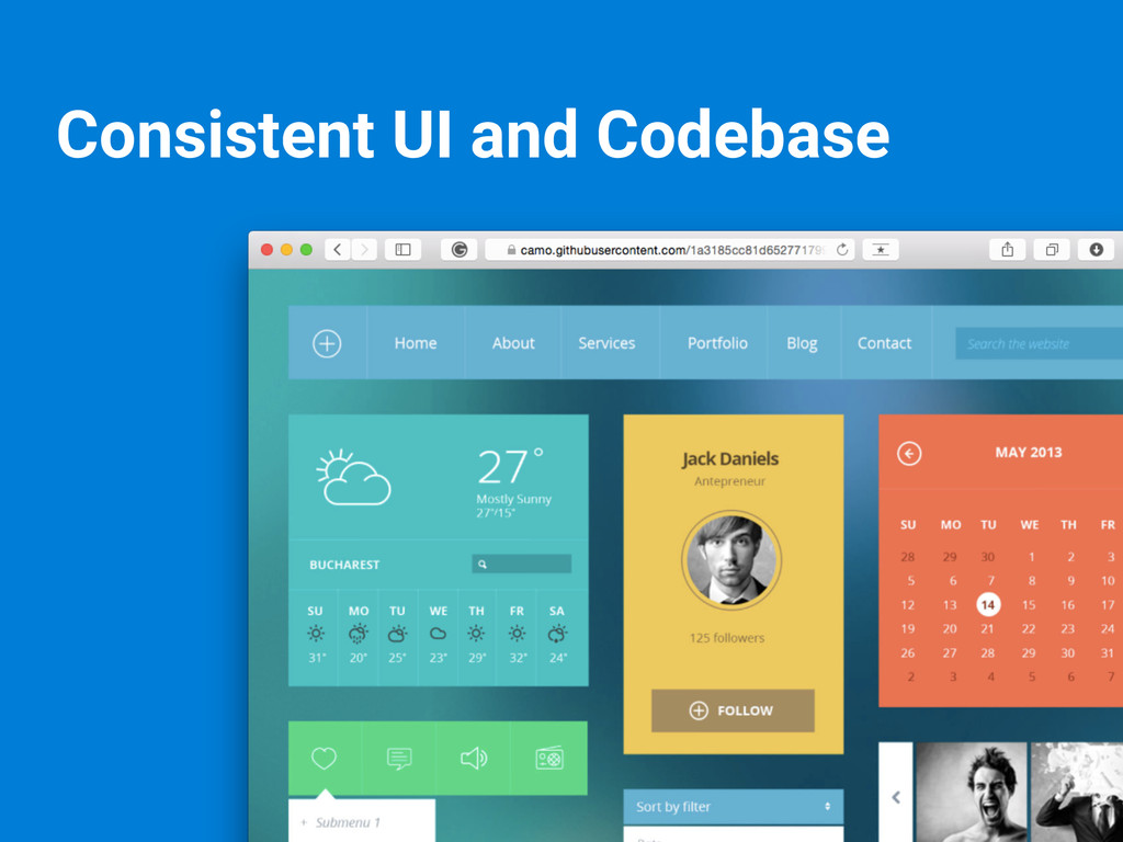 Consistent UI and Codebase