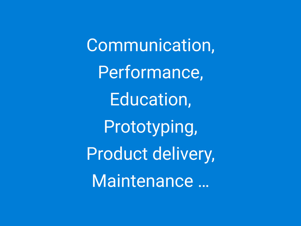 Communication, Performance, Education, Prototyp...