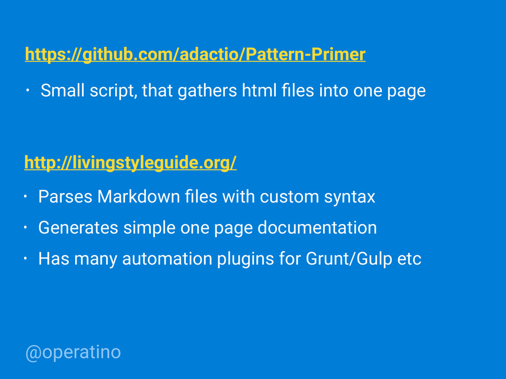 @operatino • Parses Markdown files with custom s...