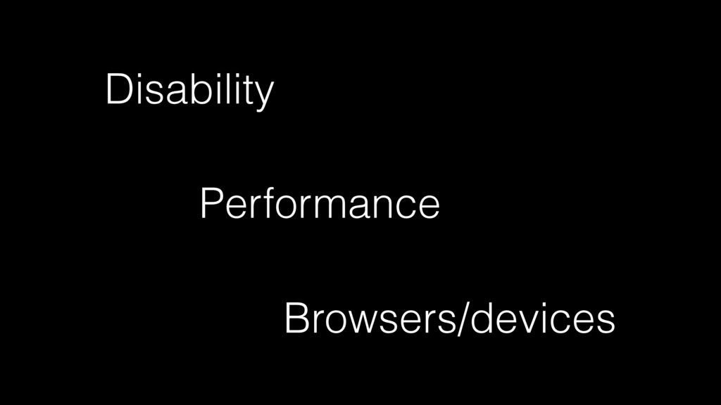 Disability Performance Browsers/devices
