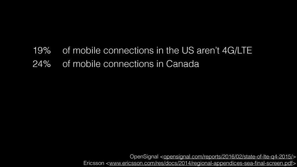19% of mobile connections in the US aren't 4G/L...