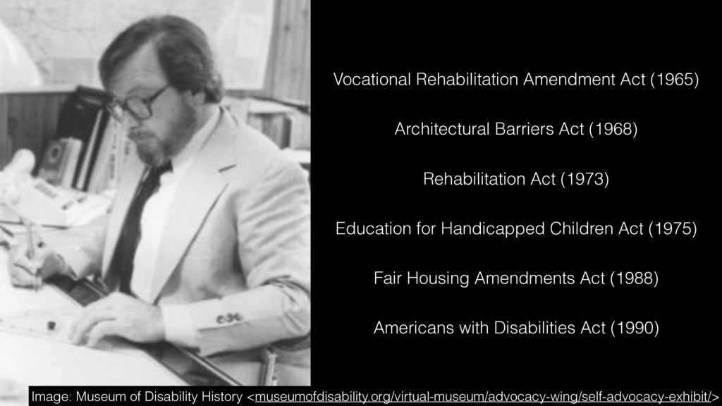 Rehabilitation Act (1973) Americans with Disabi...