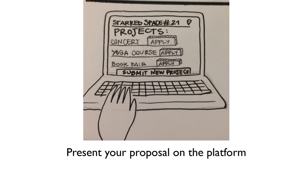 Present your proposal on the platform