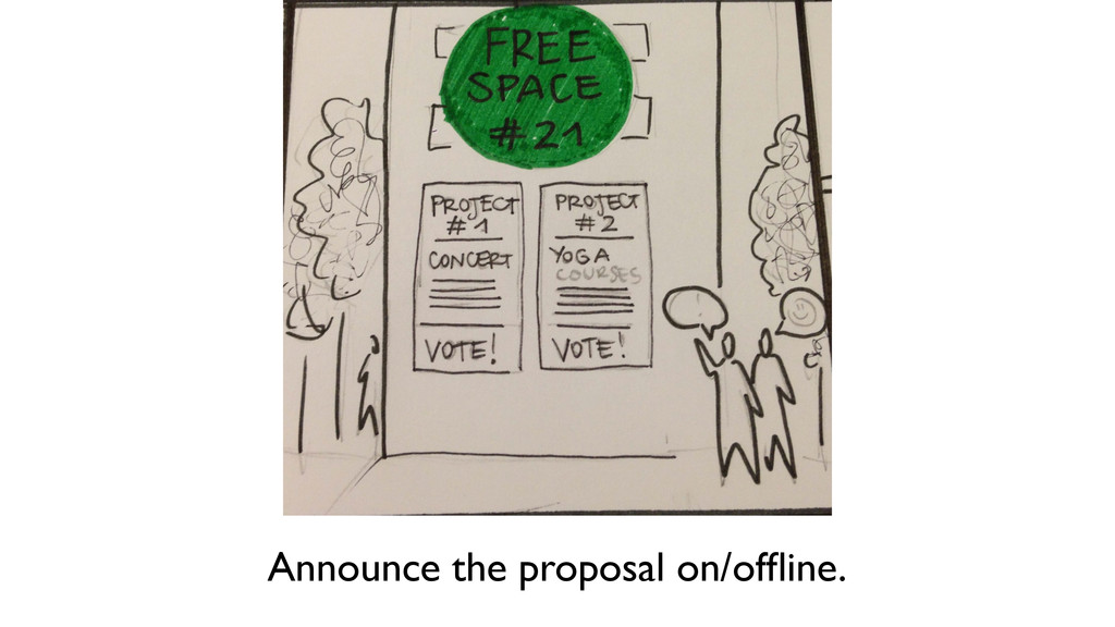 Announce the proposal on/offline.