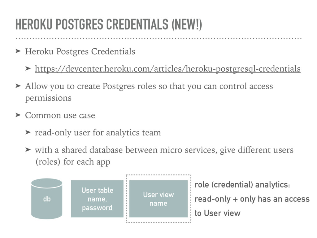 HEROKU POSTGRES CREDENTIALS (NEW!) ➤ Heroku Pos...