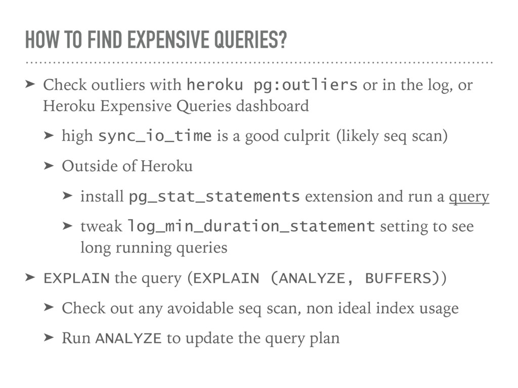 HOW TO FIND EXPENSIVE QUERIES? ➤ Check outliers...
