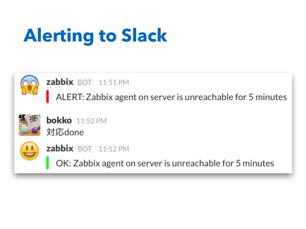 Alerting to Slack