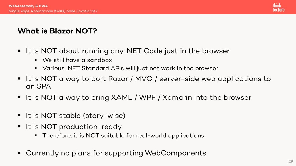 29 § It is NOT about running any .NET Code just...