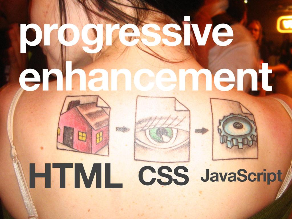 HTML CSS JavaScript progressive enhancement