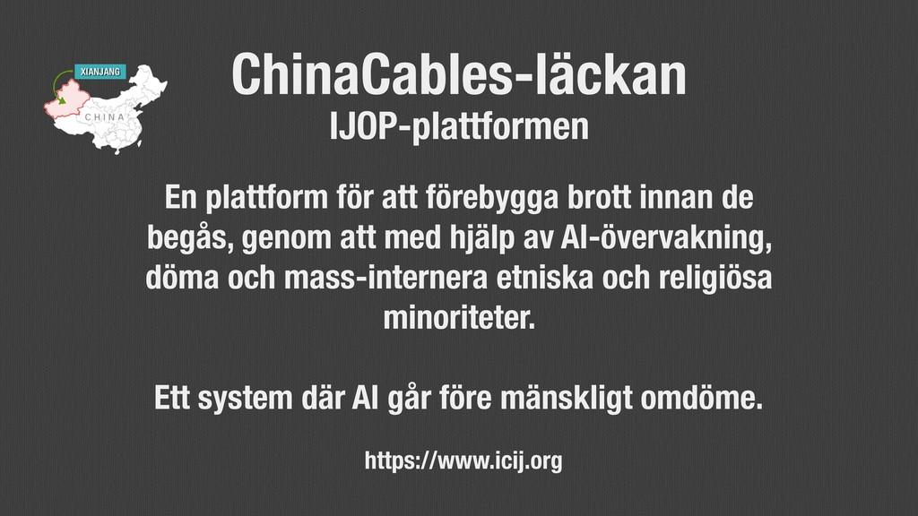 @axbom ChinaCables-läckan IJOP-plattformen En p...