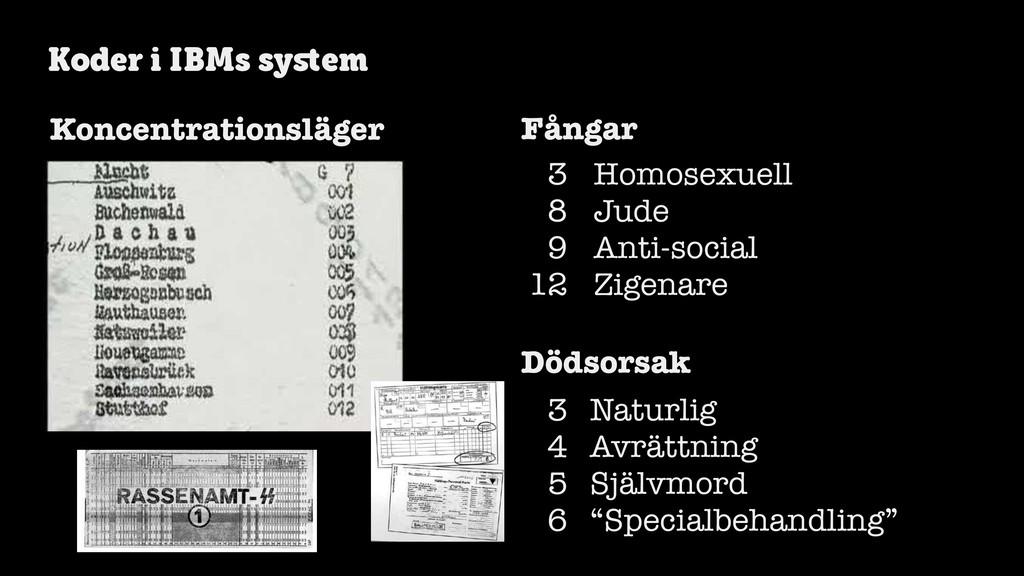 @axbom Koder i IBMs system 3 8 9 12 Homosexuell ...