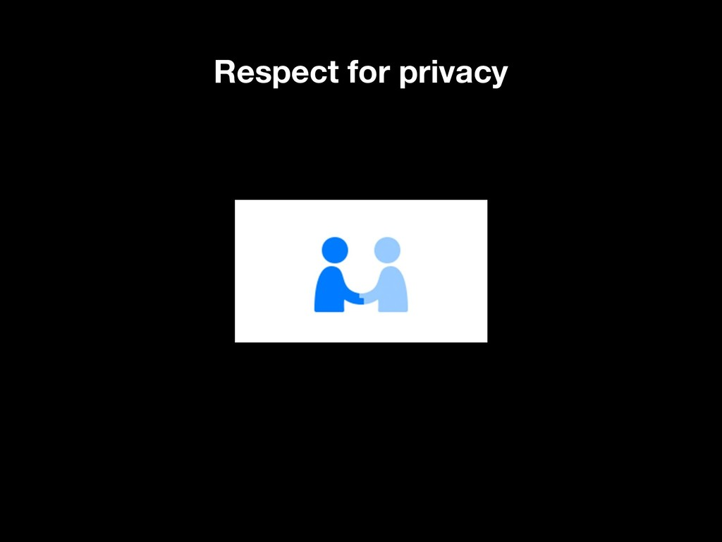 Respect for privacy