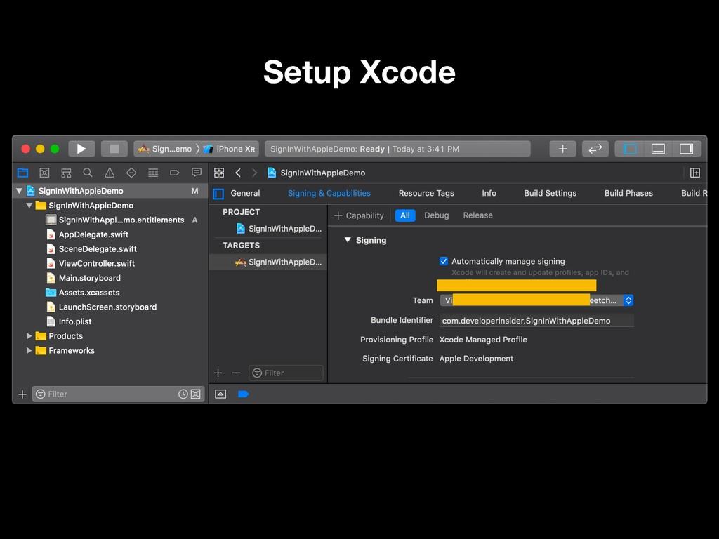 Setup Xcode