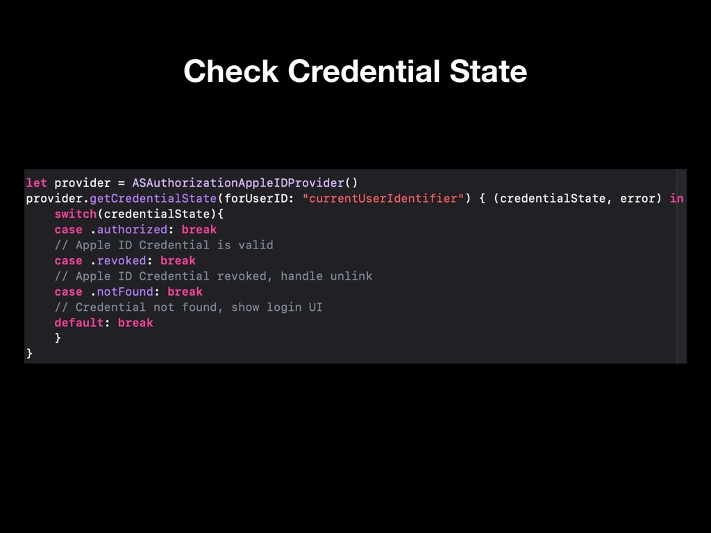 Check Credential State