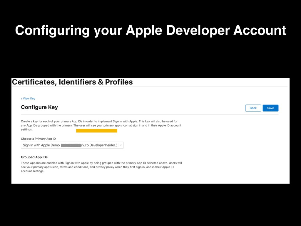 Configuring your Apple Developer Account