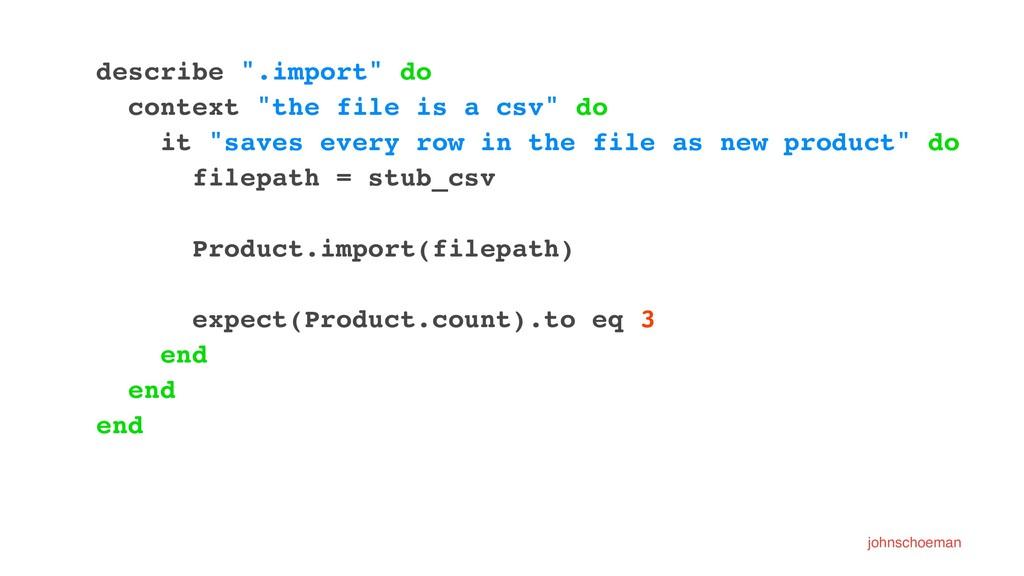 """describe """".import"""" do context """"the file is a cs..."""