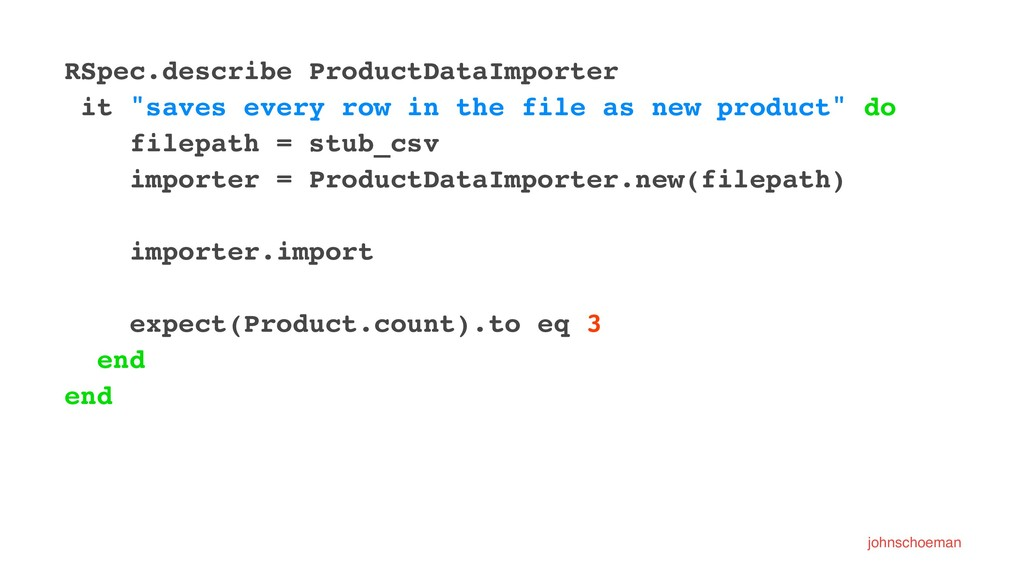 """RSpec.describe ProductDataImporter it """"saves ev..."""