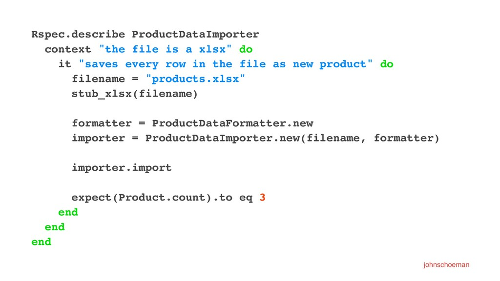 """Rspec.describe ProductDataImporter context """"the..."""
