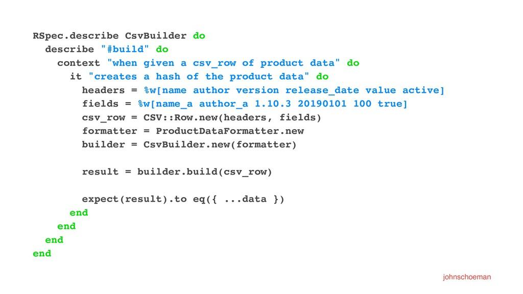 "RSpec.describe CsvBuilder do describe ""#build"" ..."