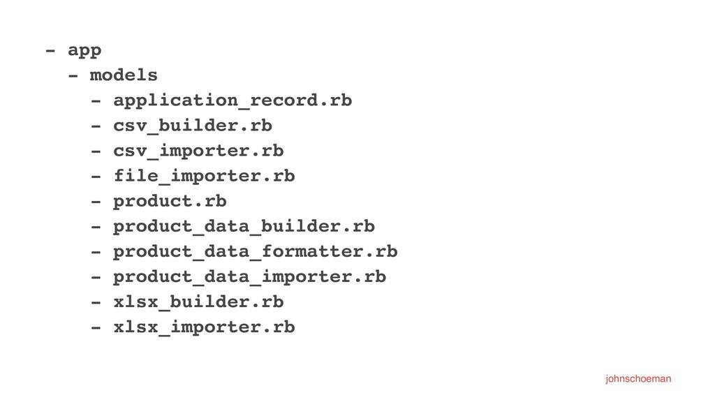 - app - models - application_record.rb - csv_bu...