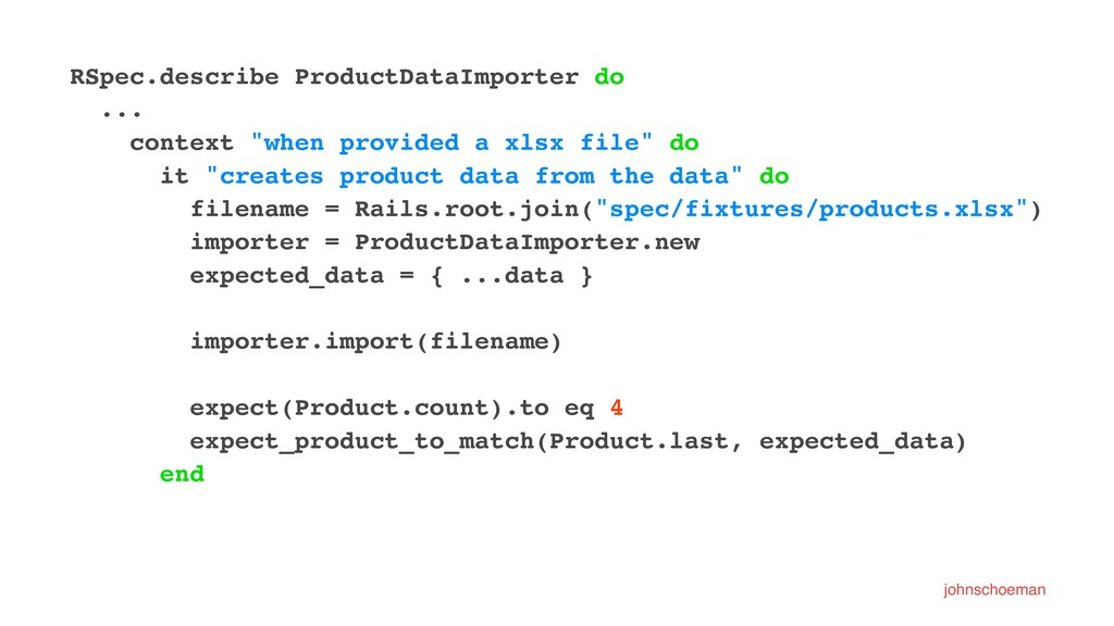 RSpec.describe ProductDataImporter do ... conte...