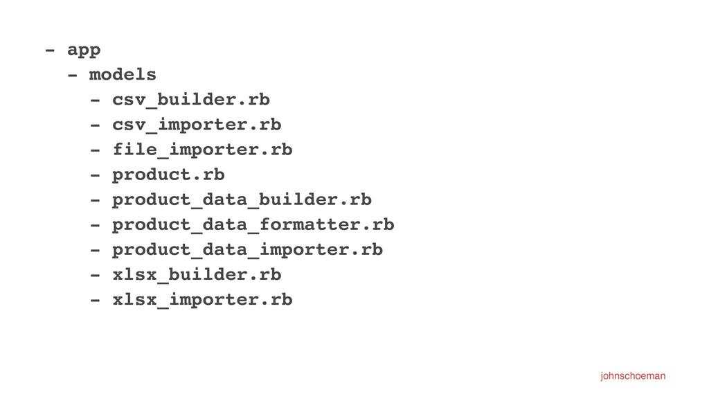 - app - models - csv_builder.rb - csv_importer....