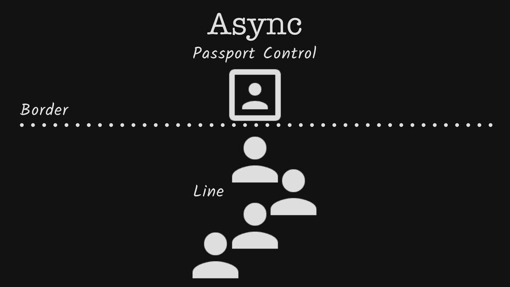 Passport Control Border Line Async