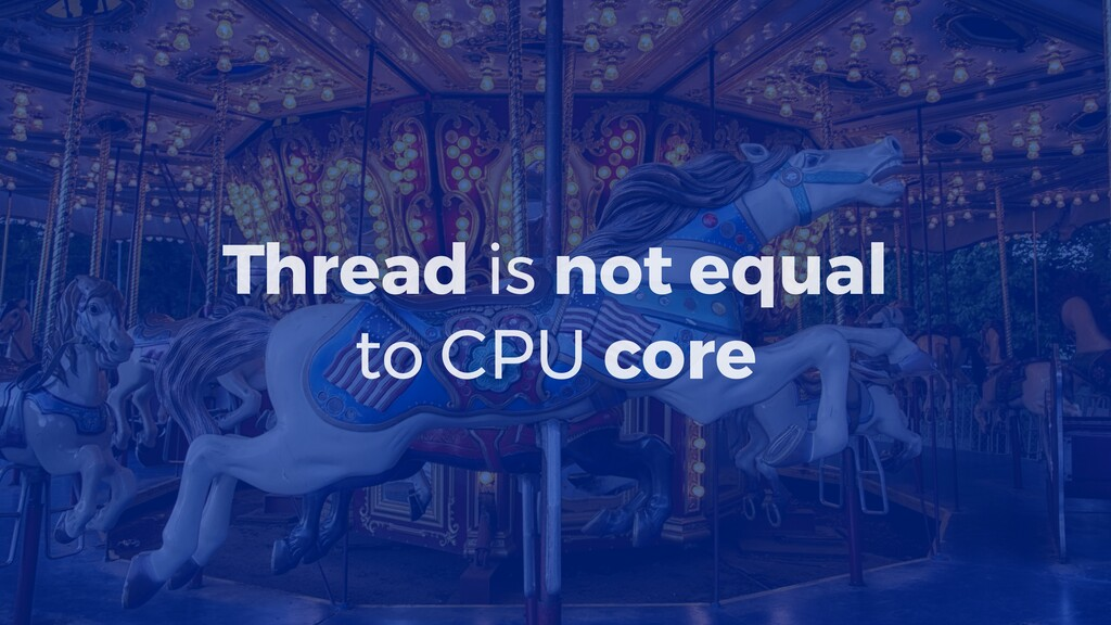 Thread is not equal to CPU core