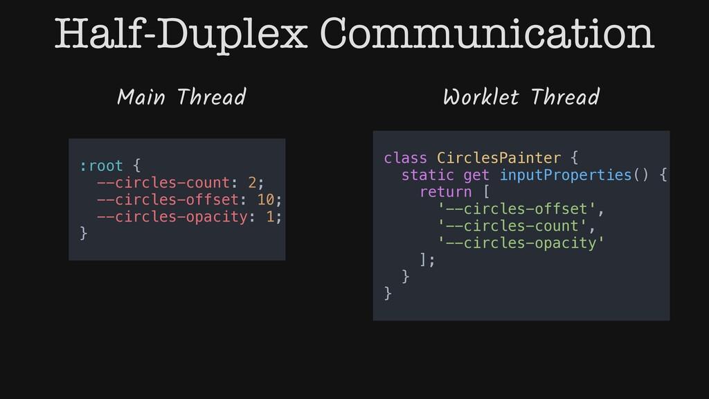Half-Duplex Communication Main Thread Worklet T...