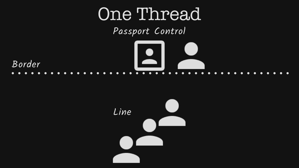 Passport Control Border Line One Thread