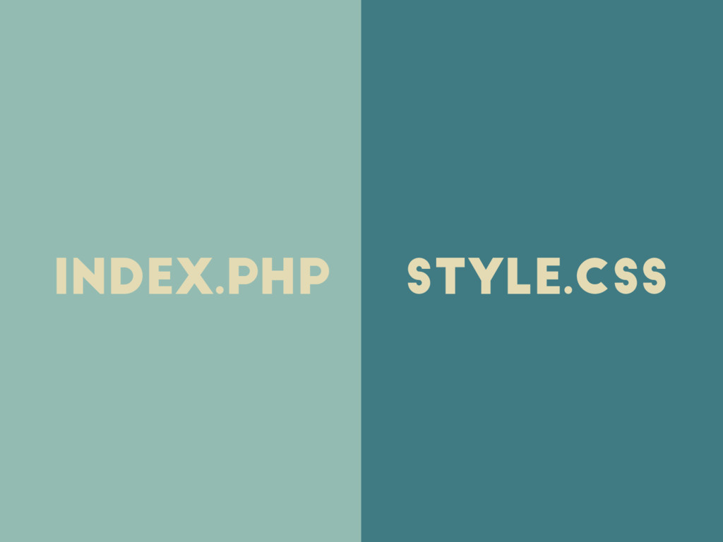 index.php style.css