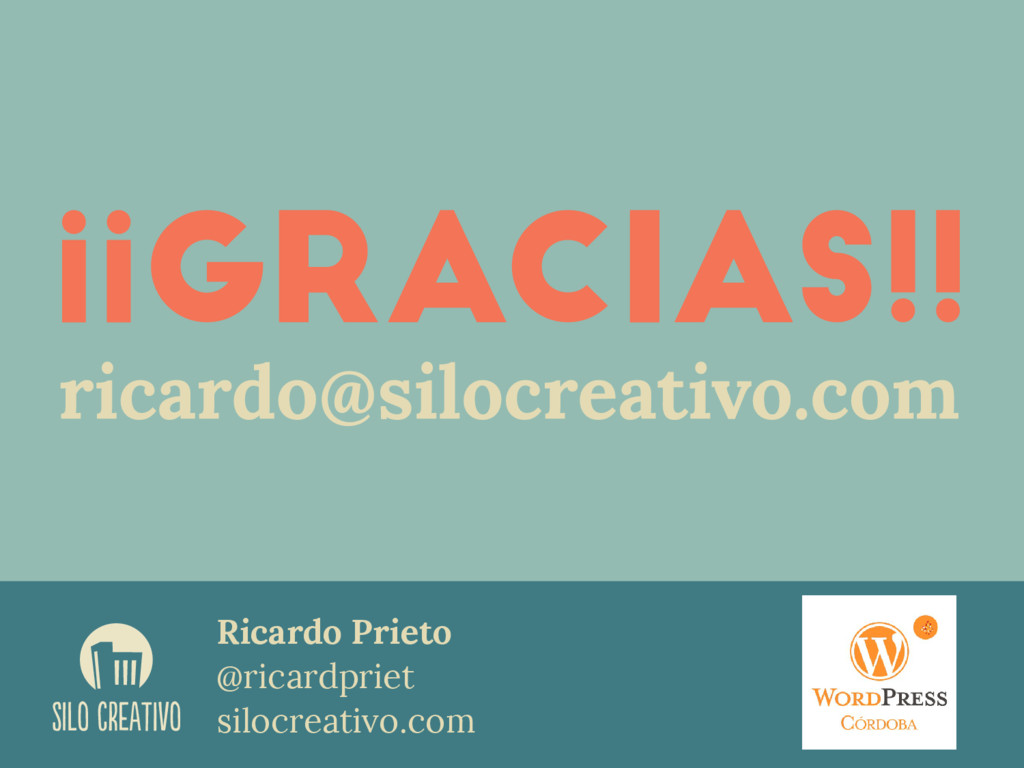 Ricardo Prieto @ricardpriet silocreativo.com SI...