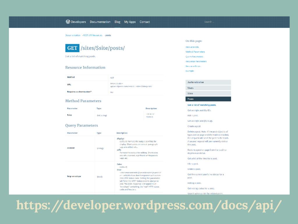 https:/ /developer.wordpress.com/docs/api/