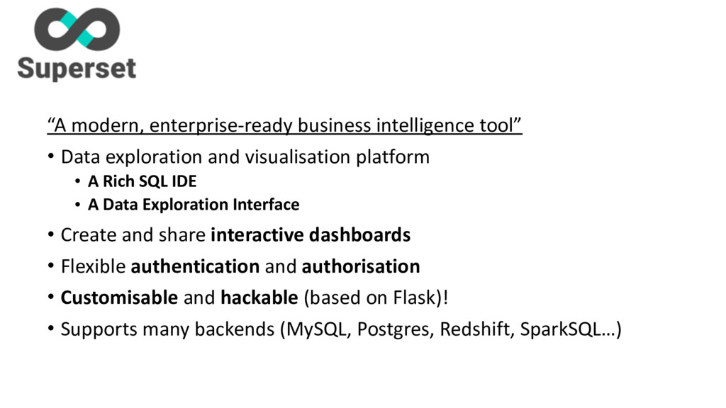 """A modern, enterprise-‐ready business..."