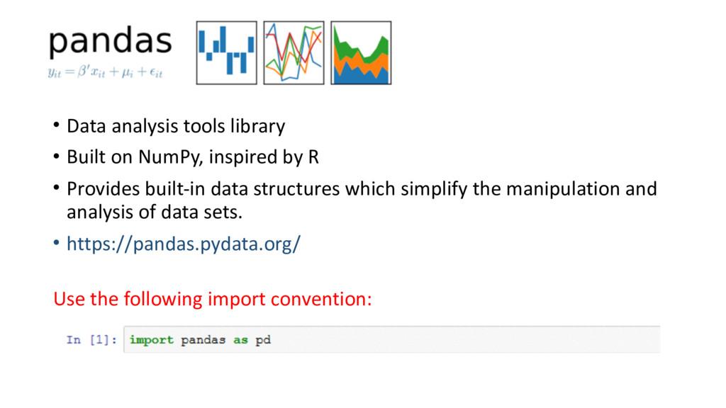 • Data analysis tools library  • Bu...