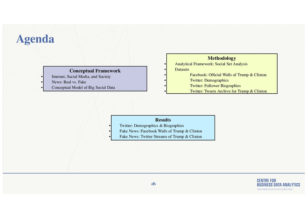 ‹#› Agenda Conceptual Framework • Internet, Soc...