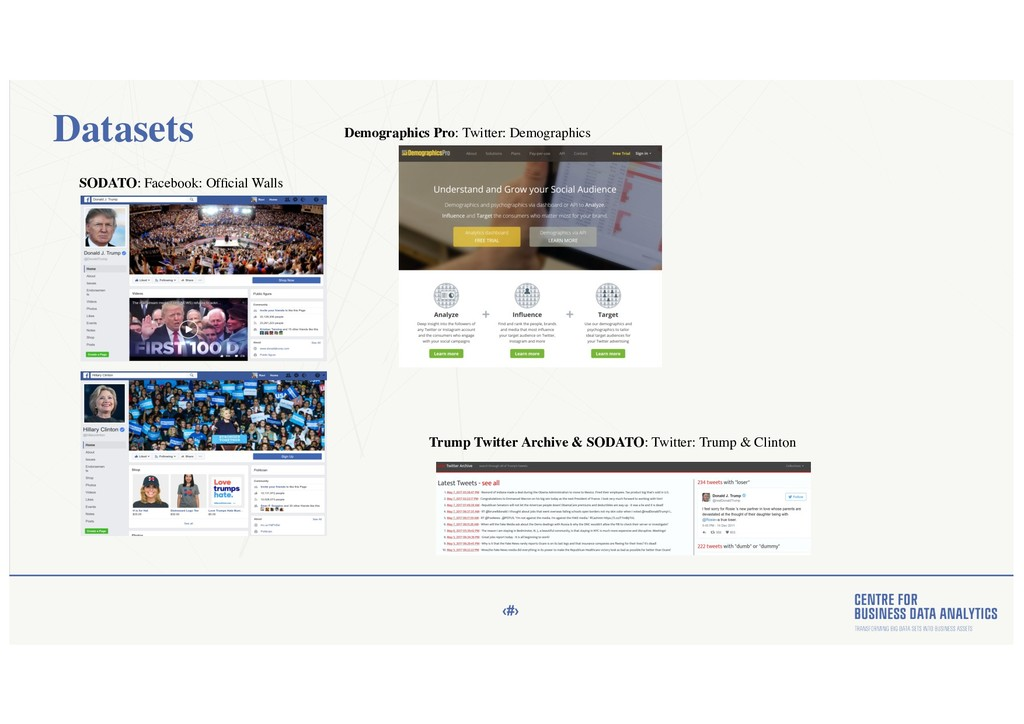 ‹#› Datasets SODATO: Facebook: Official Walls De...