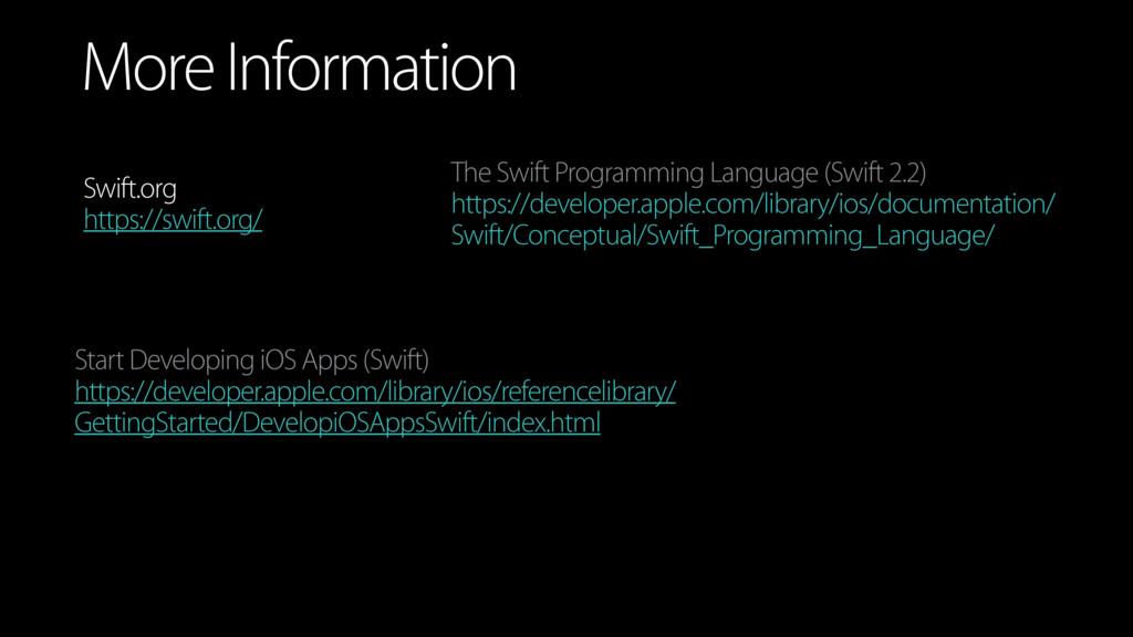 More Information Swift.org https://swift.org/ T...