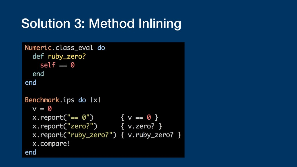 Solution 3: Method Inlining