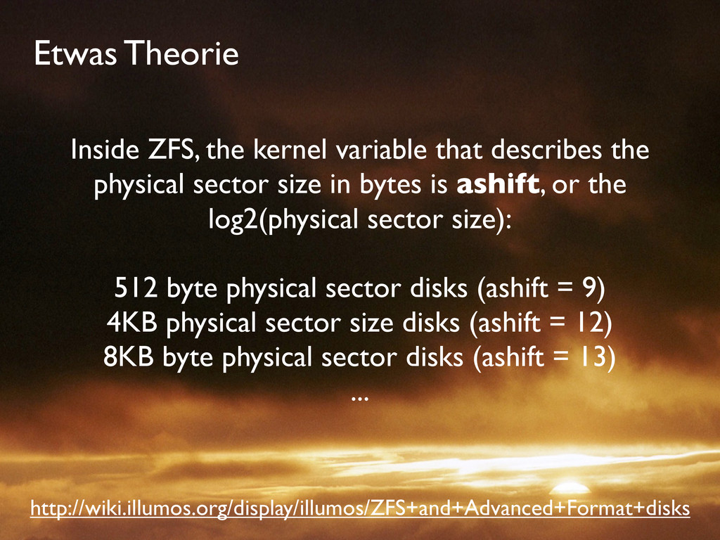 Etwas Theorie Inside ZFS, the kernel variable t...