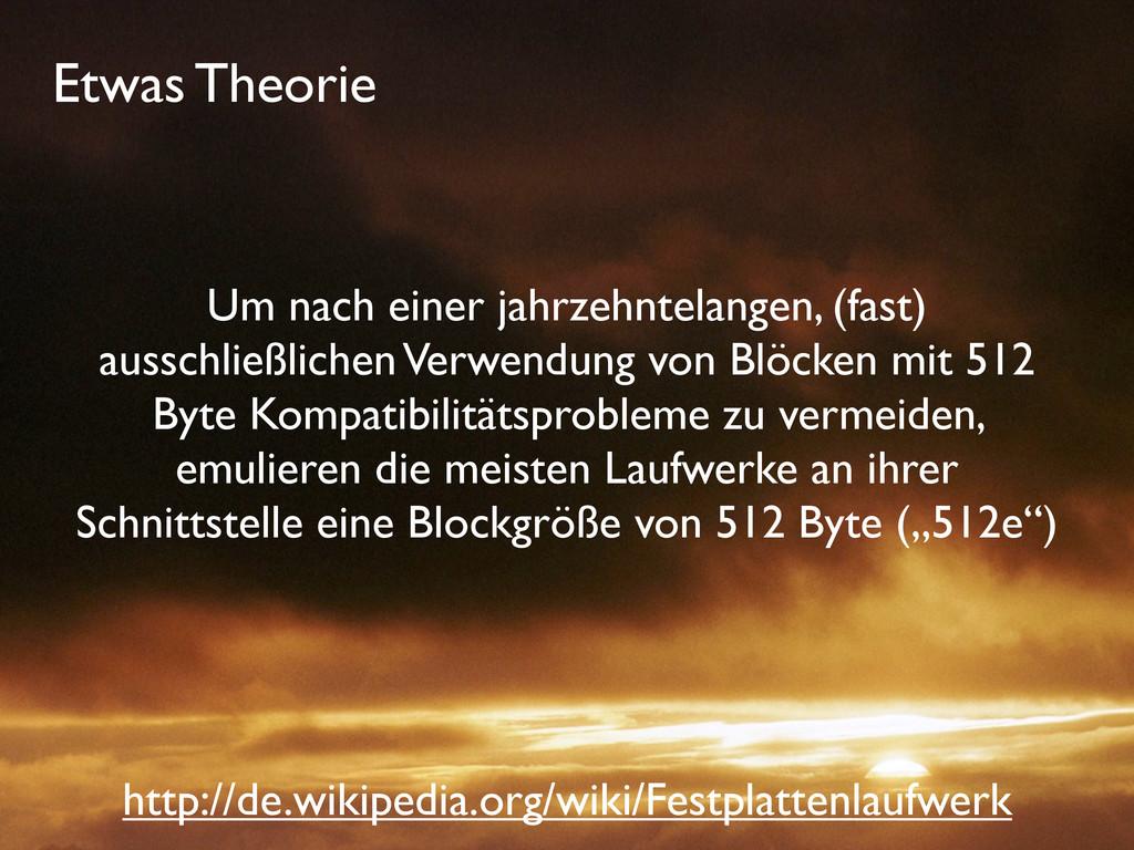 Etwas Theorie Um nach einer jahrzehntelangen, (...