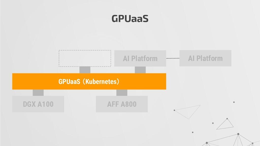 GPUaaS DGX A100 AFF A800 AI Platform GPUaaS (Ku...