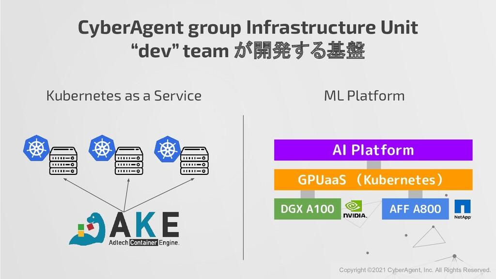 "CyberAgent group Infrastructure Unit ""dev"" team..."