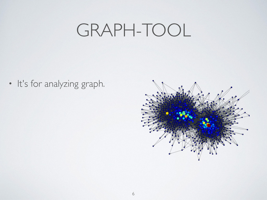GRAPH-TOOL • It's for analyzing graph. 6