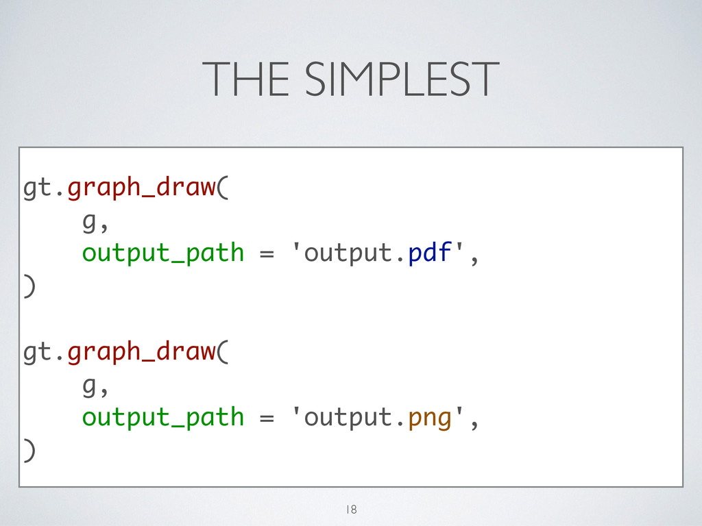 THE SIMPLEST gt.graph_draw( g, output_path = 'o...