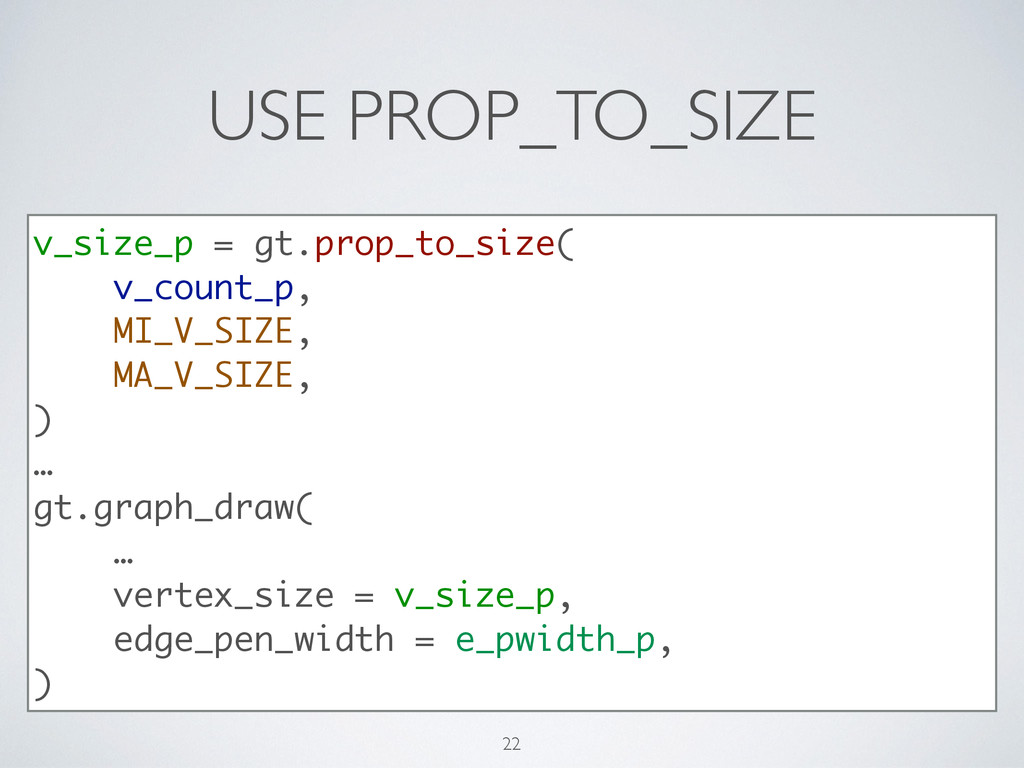 USE PROP_TO_SIZE v_size_p = gt.prop_to_size( v_...