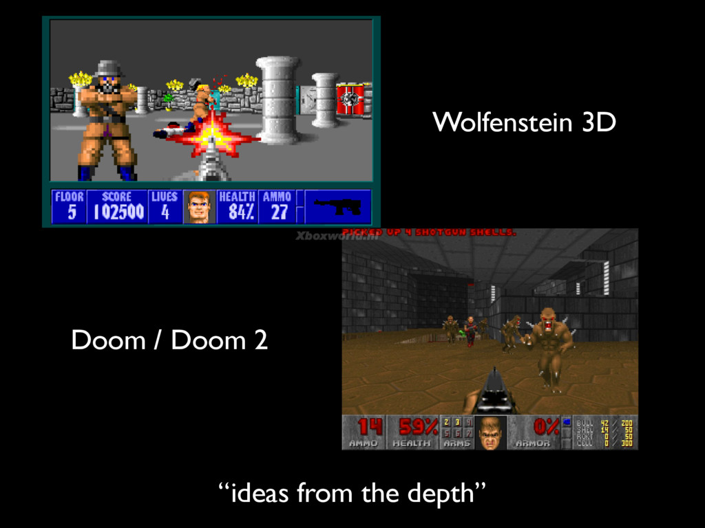 "Wolfenstein 3D Doom / Doom 2 ""ideas from the de..."